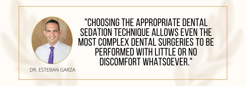 CD Quote types dental sedation